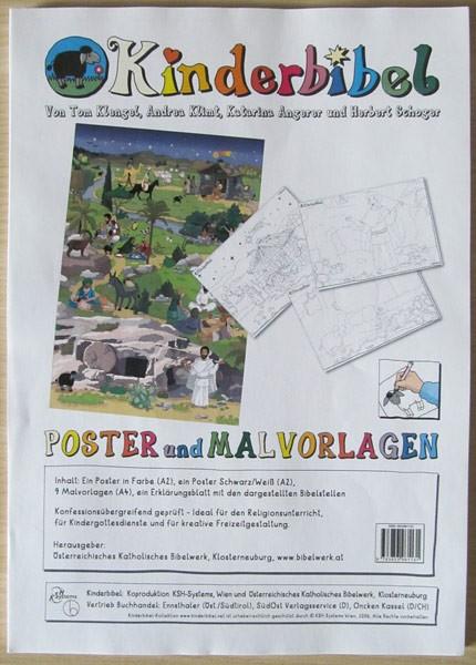 Kinderbibel Poster und Malvorlagen