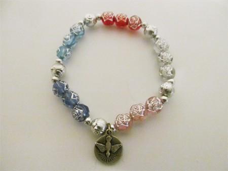 Armband - verschiedenfarbige Perlen