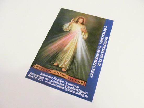 Barmherzigkeitsrosenkranz Bild und Gebetsanleitung