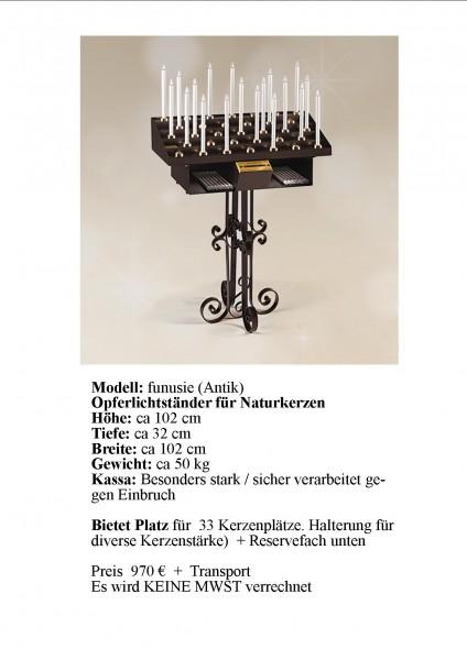 Elektronischer Opferlichtständer Modell = funusie (Antik)