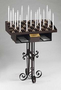 Elektronische Opferlichtständer - Serie Kunstdesign