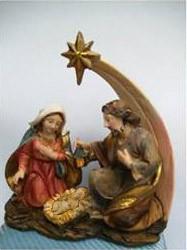 Heilige Familie mit Weihnachsstern
