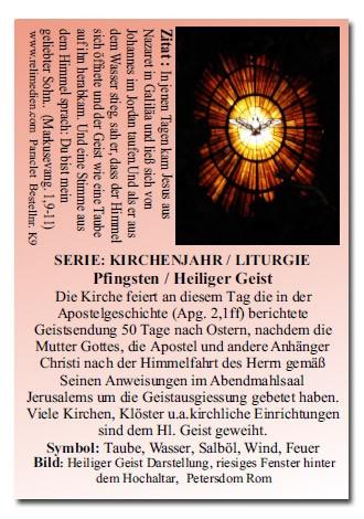 Pfingsten - Heiliger Geist