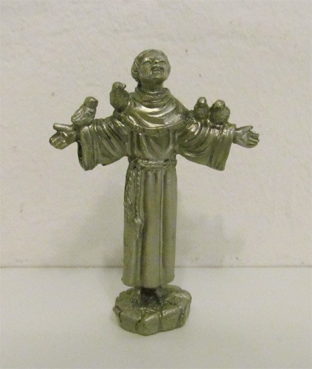 Hl. Franziskus v Assisi - Metallfigur - Selbststehend