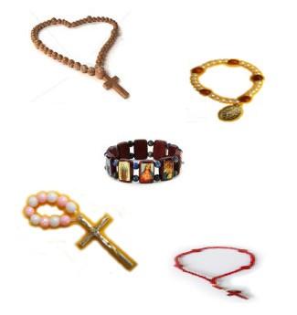 Rohmaterial um Rosenkränze - Armbänder selbst herzustellen
