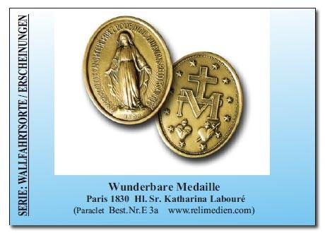 Wunderbare Medaille Gebetszettel