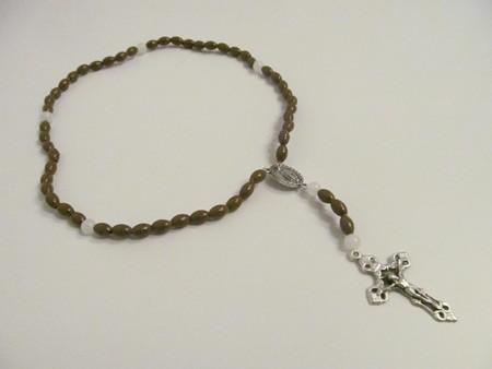 Rosenkranz - braune Perlen