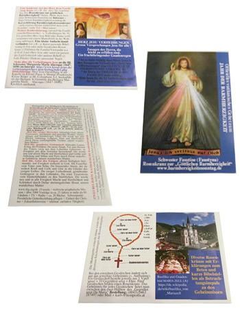 Set - 4 verschiedene Gebetsanleitungen