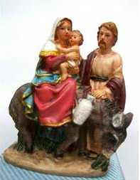Heilige Familie mit Esel