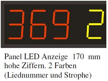 LED-Liednummernanzeige