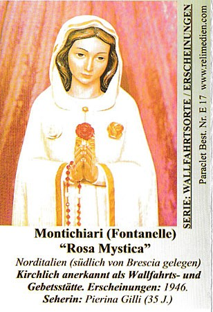 Faltblatt Rosa Mystica - Montichiari