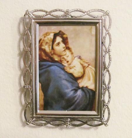 Jesuskind und Maria - Bild mit Rahmen
