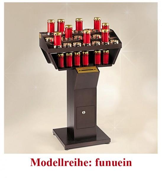 Elektronische Opferlichtständer mit rote elektronische Kerzen