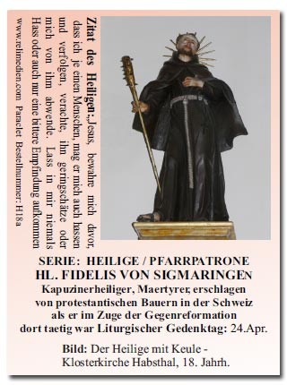 Heiliger Fidelis von Sigmaringen