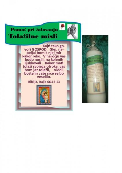 Sveče - pomoč pri žalovanju