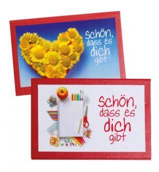 Spar-Päckchen - 5 Notizzettelboxen - Neutrale Texte