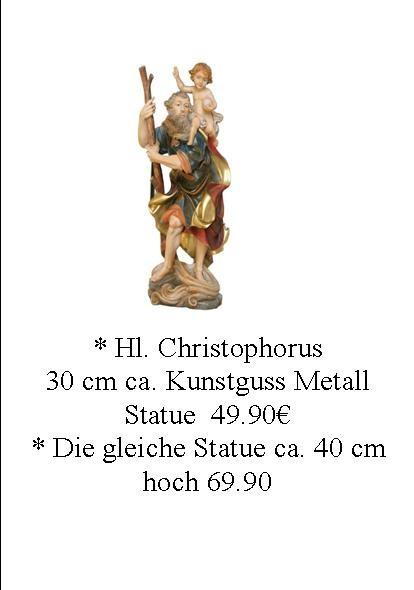 Schlüsselanhänger mit Bild v Hl. Christophorus Patron der Reisenden