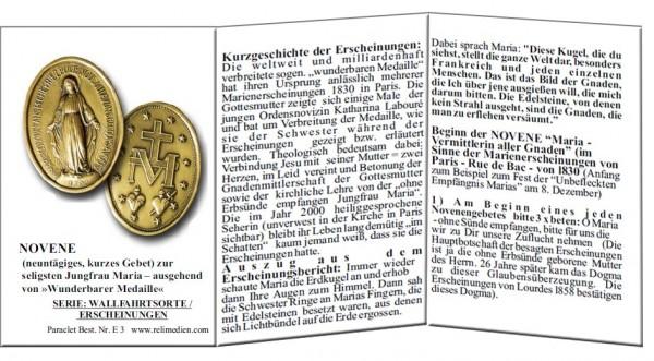 Faltblatt Wunderbare Medaille