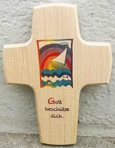 Holzkreuz Gott beschütze dich