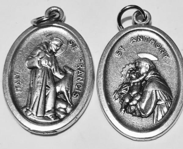 Heiliger Antonius - Heiliger Franziskus Medaille