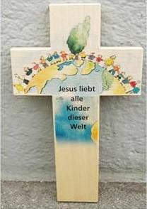 Holzkreuz speziell für Kinder