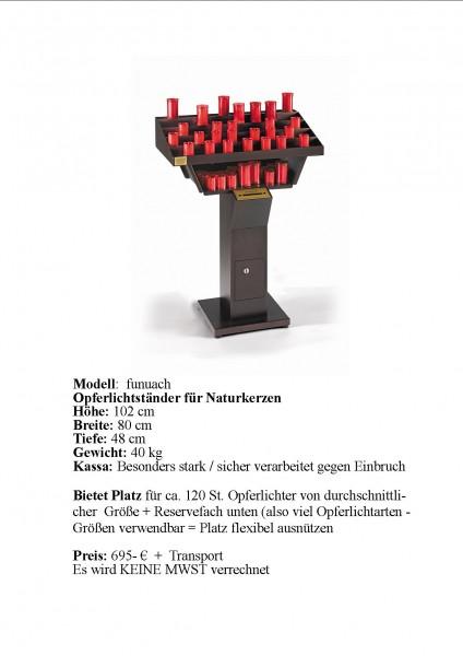 Traditioneller Opferlichtständer (offenes Licht) Modell 1 = Modell: funuach