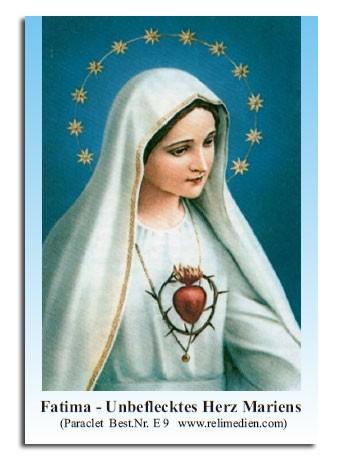 Fatima Unbeflecktes Herz Mariens