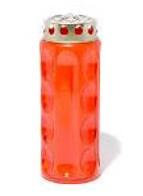 Elektronische Kerze - Zylinder rot