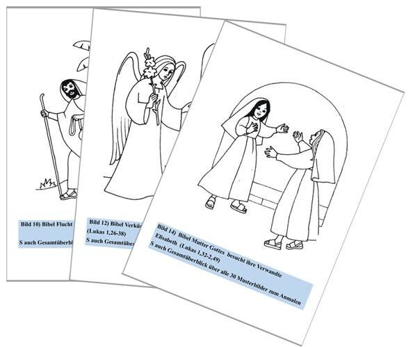 Malmappe für Kinder :: Bilder aus Bibelstellen