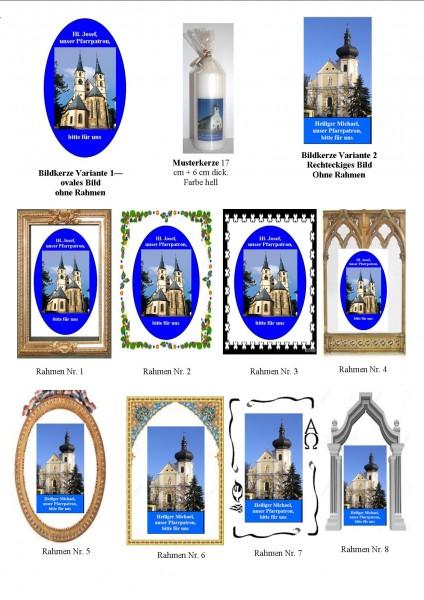Für Bildkerzen Bildformen+Rahmenvarianten zur Auswahl