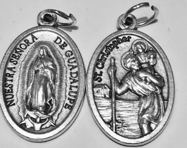 Heiliger Christophorus Medaille - Madonna von Guadalupe